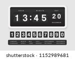 airport style countdown timer.... | Shutterstock .eps vector #1152989681
