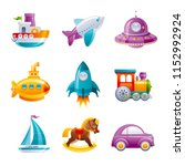 cartoon  ute vector toy... | Shutterstock .eps vector #1152992924