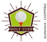 ball golf club sport... | Shutterstock .eps vector #1152995861