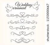 wedding ornaments. vector set... | Shutterstock .eps vector #1153000667