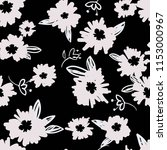 seamless floral pattern with... | Shutterstock .eps vector #1153000967