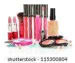 beautiful decorative cosmetics  ... | Shutterstock . vector #115300804