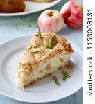 homemade apple chiffon rustic... | Shutterstock . vector #1153008131