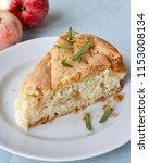 homemade apple chiffon rustic... | Shutterstock . vector #1153008134