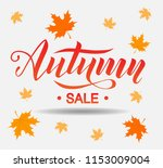 autumn sale lettering text on... | Shutterstock .eps vector #1153009004