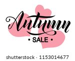 autumn sale lettering text on... | Shutterstock .eps vector #1153014677