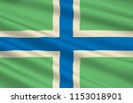flag of gloucestershir is a... | Shutterstock . vector #1153018901