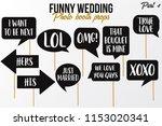 funny wedding photobooth props... | Shutterstock .eps vector #1153020341