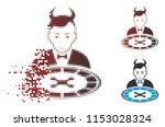 vector devil roulette dealer... | Shutterstock .eps vector #1153028324