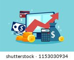 vector concept of financial... | Shutterstock .eps vector #1153030934