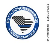 duty honor and courage button ... | Shutterstock . vector #1153034381