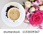 delicious and aromatic coffee... | Shutterstock . vector #1153039367