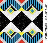 seamless geometric background... | Shutterstock .eps vector #1153045604