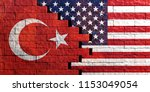 usa and turkey relations.... | Shutterstock . vector #1153049054
