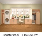 design room for washing and... | Shutterstock . vector #1153051694