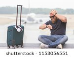 young man is upset  angry and... | Shutterstock . vector #1153056551