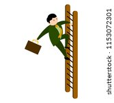 businessman climbing a ladder... | Shutterstock .eps vector #1153072301