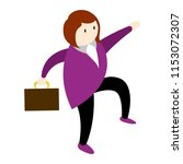 isolated businesswoman icon | Shutterstock .eps vector #1153072307