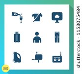 modern  simple vector icon set... | Shutterstock .eps vector #1153075484
