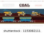flat coal transportation...   Shutterstock .eps vector #1153082111