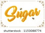 sugar lettering with honeycomb... | Shutterstock .eps vector #1153088774