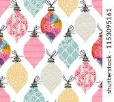seamless pattern. christmas... | Shutterstock .eps vector #1153095161