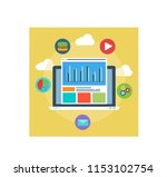 illustration of web analytics... | Shutterstock .eps vector #1153102754