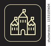 castle icon. medieval tower.... | Shutterstock .eps vector #1153105604