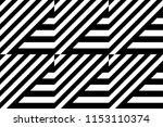 seamless pattern with striped... | Shutterstock .eps vector #1153110374