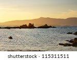 rocky islets in arousa island...   Shutterstock . vector #115311511