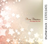 elegant christmas background... | Shutterstock .eps vector #115311631
