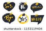 set of bubble banners with... | Shutterstock .eps vector #1153119404