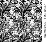 seamless lace floral pattern.... | Shutterstock .eps vector #115312837