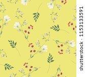 blossom floral seamless pattern....   Shutterstock .eps vector #1153133591