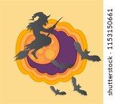 helloween paper cut vector...   Shutterstock .eps vector #1153150661