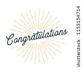 congratulations card with... | Shutterstock .eps vector #1153154714