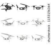remote control air drone set....   Shutterstock . vector #1153156364