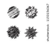 set strips grunge element... | Shutterstock .eps vector #1153156367