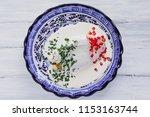 chiles en nogada mexican...   Shutterstock . vector #1153163744