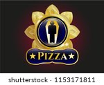 gold shiny emblem with dead... | Shutterstock .eps vector #1153171811