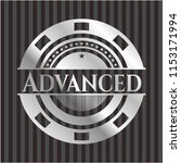 advanced silvery badge or emblem | Shutterstock .eps vector #1153171994