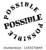 possible stamp   label | Shutterstock .eps vector #1153173644
