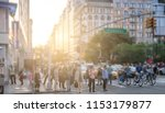 crowds of people crossing... | Shutterstock . vector #1153179877
