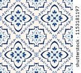 talavera pattern.  azulejos... | Shutterstock .eps vector #1153181197
