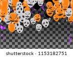 halloween background with...   Shutterstock .eps vector #1153182751