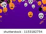 halloween background with...   Shutterstock .eps vector #1153182754