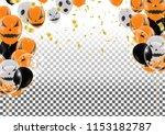 halloween background with...   Shutterstock .eps vector #1153182787