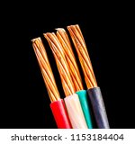 closeup of a electric cable on... | Shutterstock . vector #1153184404