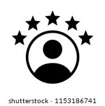 customer experience or 5 star... | Shutterstock .eps vector #1153186741