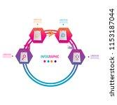 modern timeline infographic... | Shutterstock .eps vector #1153187044
